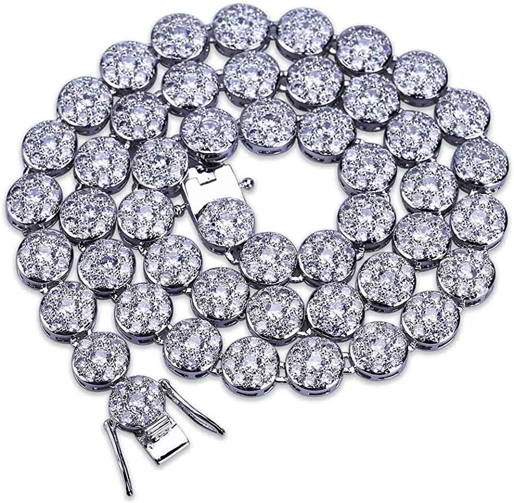 TOPGRILLZ 1 Row 14K Hip Hop Iced Cluster Alternative Max 59% OFF dealer Diamond C Simulated Out