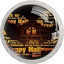 Lade knop Pull handvat 4 stuks Crystal Glass Cabinet lade trekt kast knoppen, het Halloween gezicht