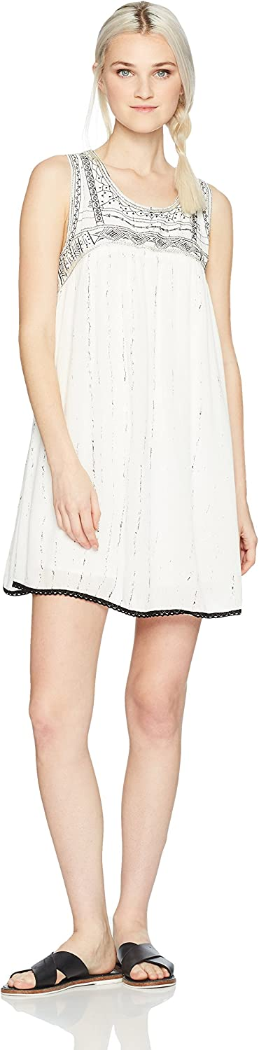 Angie Junior's Embroidered and Beaded Tank Dress