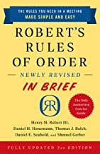 Robert's Rules of Order Newly Revised In Brief, 3rd edition PDF
