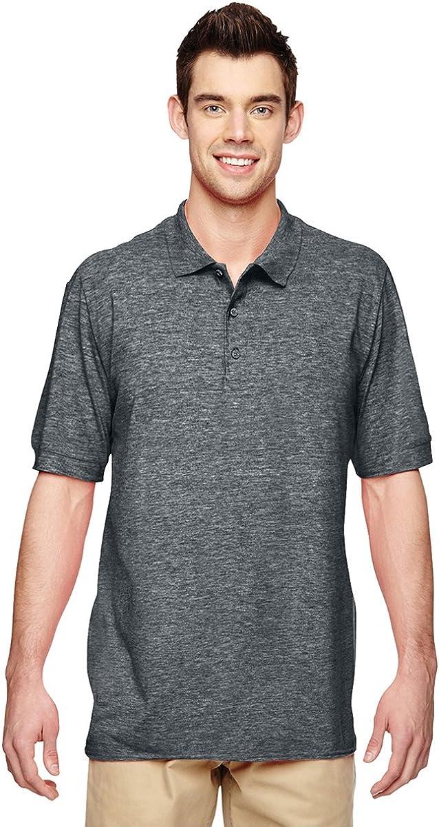 Gildan Mens Premium Cotton Double Piqué Sport Shirt G828 -DARK HEATHER S