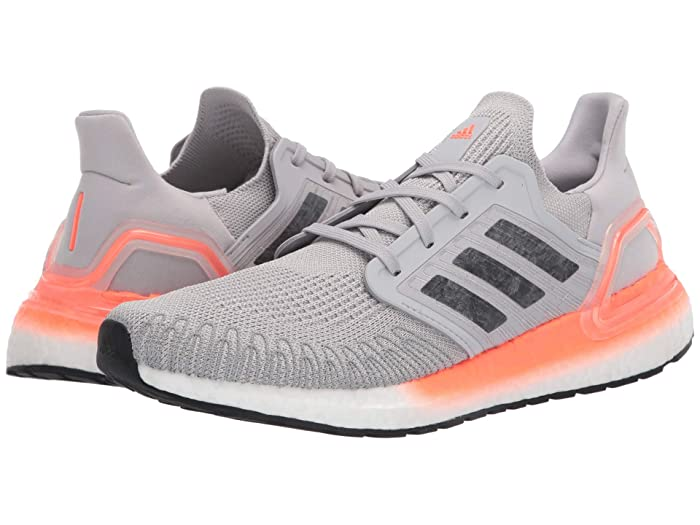 adidas Running  Ultraboost 20 (Grey Two/Night Metallic/Signal Coral) Womens Running Shoes
