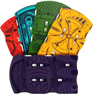 5-Pack Sci-Fi Pocket Health Trackers - Space Alien, Retro Tabletop RPG Role Playing Game Accessory - Character HP Tracker Compatible with Starfinder and Dungeons & Dragons