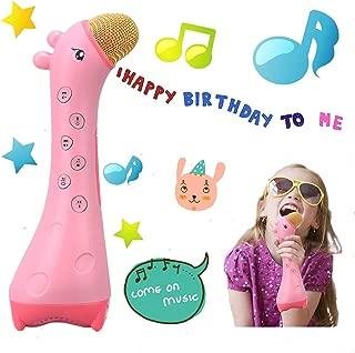 Wireless Karaoke Microphone for Kids Girls Singing Machine Portable Handheld Karaoke Speaker Machine 2019 Top Birthday Gifts Birthday for Kids Toddlers (Pink)