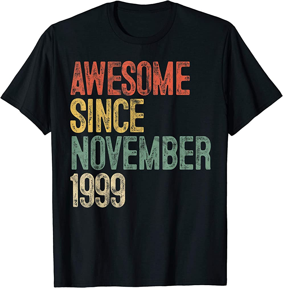 Awesome Since November 1999 20th Birthday Gifts 20 Year Old T-shirt