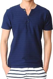 (スペイド) SPADE タックボーダーTシャツ メンズ ヘンリーネック Tシャツ ボーダー 【e190】