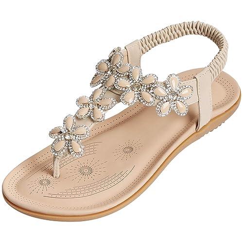 c7952fbe07f36 SANMIO Women Summer Flat Sandals Shoes