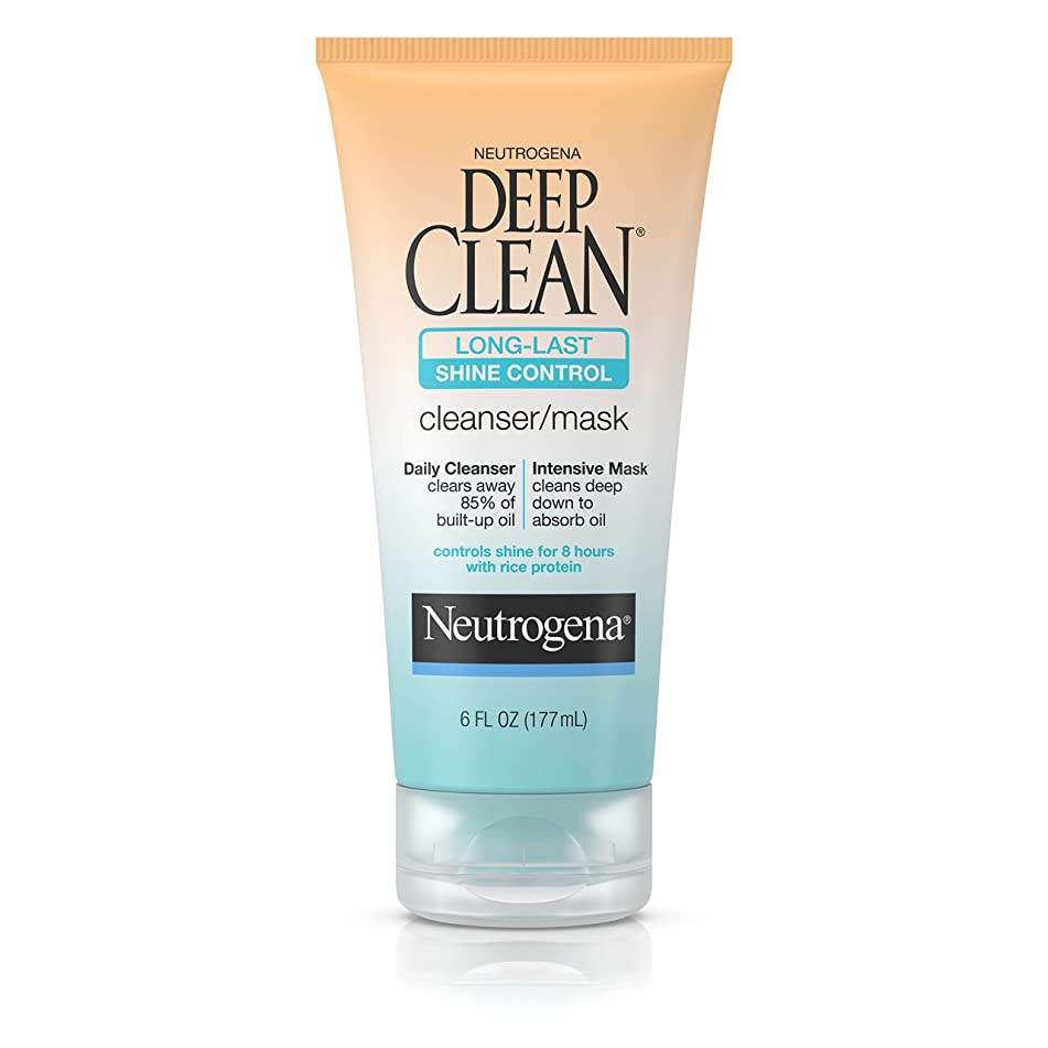 Neutrogena Deep Clean Long-Last Shine Control, Cleanser/mask, 6 Ounce
