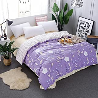 GX&XD Rural Cotton Printed Duvet Cover, Fade Resistant Comforter Cover Soft Breathable Quilt Cover for King Queen Full duvets-O 155x220cm(61x87inch)