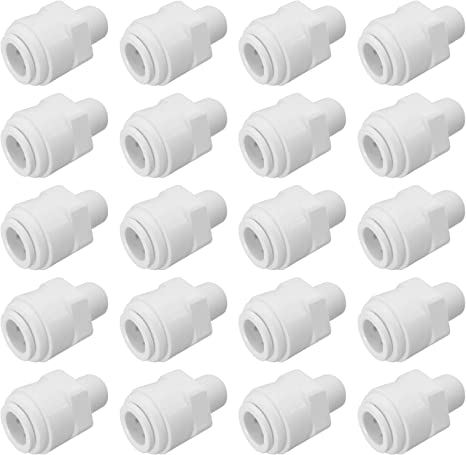 """10 Pack Male Connector 1//2/"""" x 1//4/"""" Quick Connect QC RO System Fitting Part"""