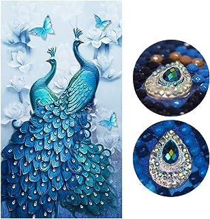 Diamond Painting Full Drill Beautiful Peacock DIY Arts Craft for Home Wall Decor 60 x 100 cm ZSH-kq