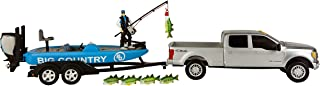 Big Country Toys Bass Fishing Set - 1:20 Scale - Ford F250 Super Duty - Bass Boat with Evinrude Motor - Accessory Pack - 1...