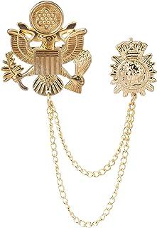A N KINGPiiN Eagle Bird Pin de solapa insignia de regalo para camisa de fiesta, accesorio para disfraz para hombres Broche