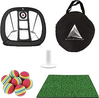 Golf Practice Chipping Net, Golf Target Net, Youth Golf Equipment, Golf Accessories Set. Includes Golf Mat, Half Dozen Foam Balls, White Rubber Tee, Net and A Carry Case. Indoor & Outdoor Use