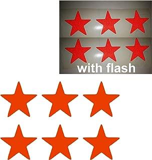 6x 3M STAR LUCKY Red Reflective PVC Sticker Vinyl Sport Motorbike Helmet Motorcycle Bike Racing Car Decal Badge Sticker Door Window Tailgate Truck Trunk Side Rear Emblem XMAS Christmas Gift Present