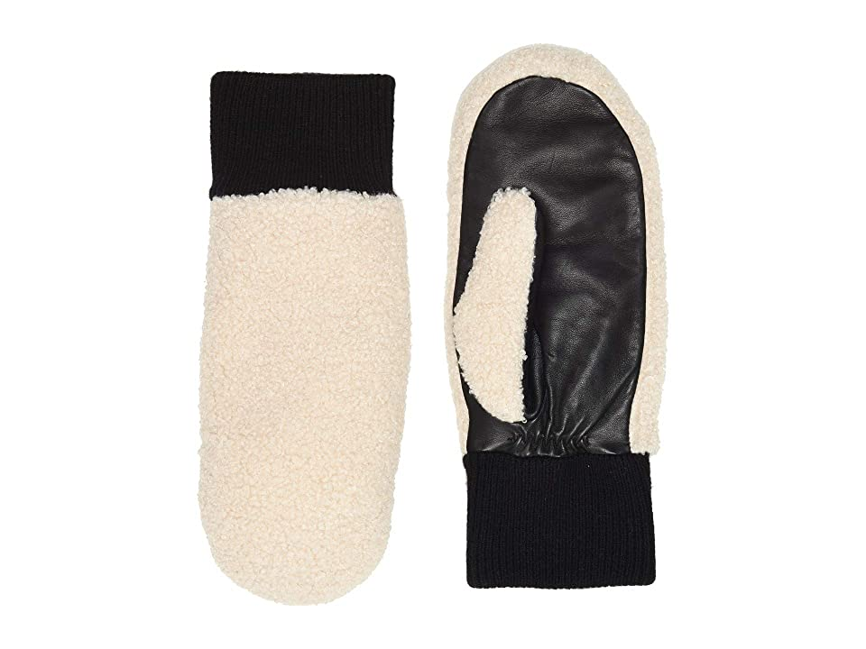 UGG Faux Sherpa Tech Mitten (Natural) Extreme Cold Weather Gloves