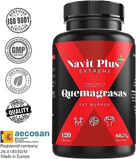 Quemagrasas potente para adelgazar.Suplemento deportivo para adelgazar Fat Burner de Navit Plus EXTREME.