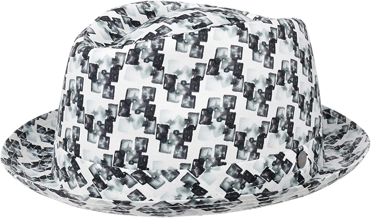 Lierys Pixels Pork Pie Cloth Max 87% OFF Hat Made - in Italy Men Super-cheap