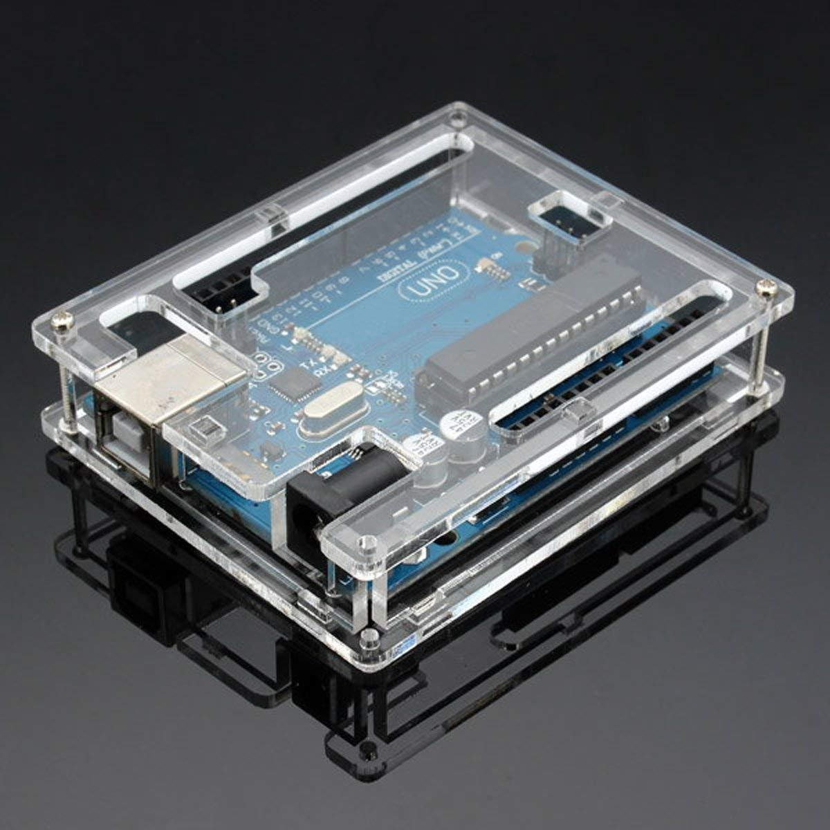DollaTek Caja de Caja Uno R3 Nueva Caja de computadora acrílica ...