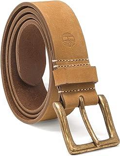 حزام جلدي للرجال بلون قمحي من تيمبرلاند مقاس 38 ملم يتناسب مع حذاء تيمبرلاند بنفس اللون
