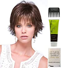 Bundle - 4 items: Coco Wig by Rene of Paris, Christy's Wigs Q & A Booklet, BeautiMark Synthetic Shampoo & Wide Tooth Comb - Color: AUBURN SUGAR