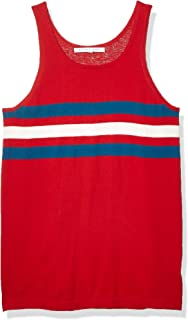 parke & ronen Men's Striped Knit Tank Top