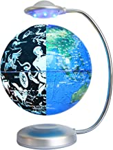 "Magnetische levitatie Globe 8""Verlichte Wereldnacht Globe Roterende Constellation Night Light Home Office Desktop Display ..."