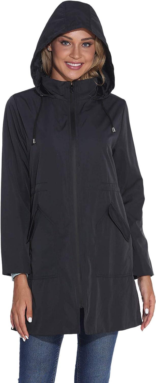 GUANYY Save money Rain Jacket Women Surprise price Waterproof Hooded Active Outdo Raincoat