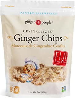 The Ginger People Crystallized Ginger Chips, 7 Ounce Bags (Pack of 6)