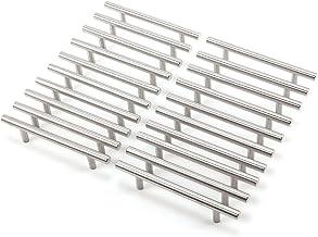 20 stuks kastgreep meubelgreep railgreep boorgatafstand 128 mm roestvrij staal zilver Ø 10 mm, handgrepen met schroeven la...