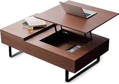 LOWYA ロウヤ テーブル table 木製テーブル コーヒーテーブル 天板昇降テーブル 幅120cm ウォルナット