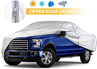 Truck Cover 249 Inch Waterproof Dust-Proof Windproof Outdoor Indoor Pickup Car Cover Silvery Full Cover