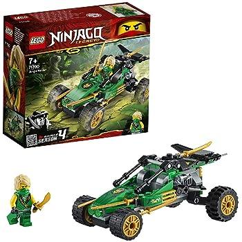 LEGO NINJAGO, Legacy Le buggy de la jungle, Voiture avec figurine de Lloyd, Set de construction, Le Tournoi des Éléments, 112 pièces, 71700