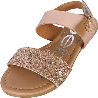 413dde0a95d2 bebe Girls Metallic Sandals with Chunky Glitter Strap (Little Kid Big Kid)