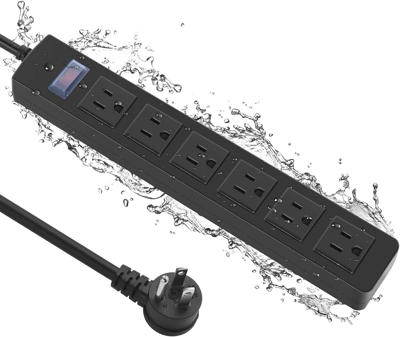 Outdoor Power Strip Waterproof with Topics on TV Weatherproo Max 43% OFF 6 Garden Outlet