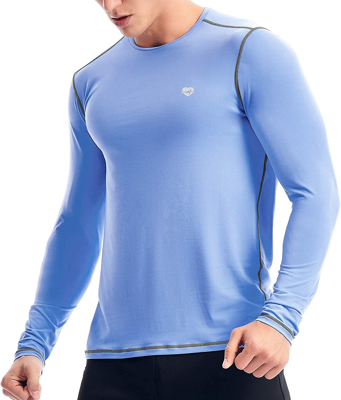 Zengjo Mens Base Layer Shirt Long Sleeve T Mesa Mall Athletic Running Shir Now on sale