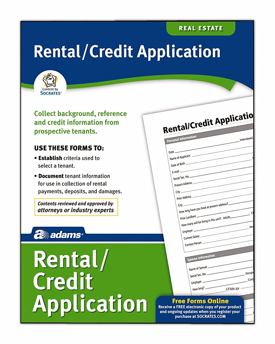 Adams Rental and Credit Application Form, 8.5 x 11 Inch, White (LF305)