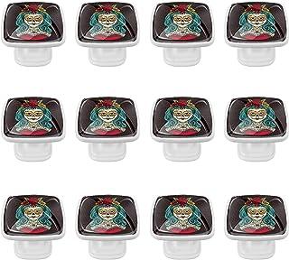 Boutons D'armoire 12 Pcs Poignés Poignée De Champignons Porte Poignées avec Vis pour Cabinet Tiroir Cuisine,Halloween Fill...