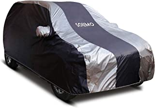 Amazon Brand - Solimo Mahindra KUV100 Water Resistant Car Cover (Dark Blue & Silver)