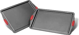 Elite Bakeware 2 Piece Midsize Baking Sheets - Cookie Sheet - Baking Pans - Premium Bakeware Set
