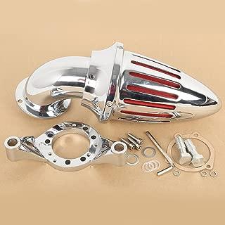 TengChang motocicleta Cromo Espiga Kit de filtro de admisión de filtro de aire para Harley Davidson CV Carburetor Delphi V-Twin