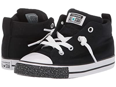 Converse Kids Chuck Taylor(r) All Star(r) Warmth Mid (Infant/Toddler) (Black/White/Turbo Green) Boys Shoes