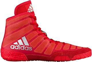 adidas Men's Adizero Varner Wrestling Shoes, Red/Silver, Size 10