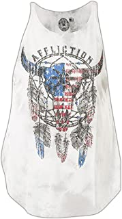 Affliction Wind Spirit Sleeveless Fashion Graphic Tank Top For Women