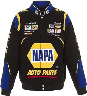 J.H. Design 2018 Chase Elliott Napa Black Twill NASCAR Jacket Size XLarge