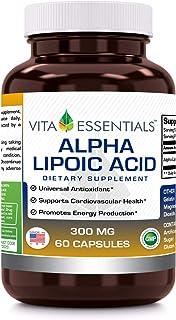 Vita Essentials Alpha Lipoic Acid 300 Mg Capsules, 60 Count