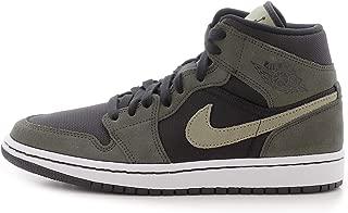 Nike Women's Air Jordan 1 MID Black/Sequoia/Trooper BQ6472-030