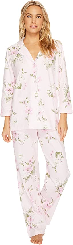 Carole Hochman - Printed Notch Collar Pajamas
