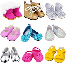 10 Pairs White  Doll Sneakers Shoes Dolls Accessories Giol