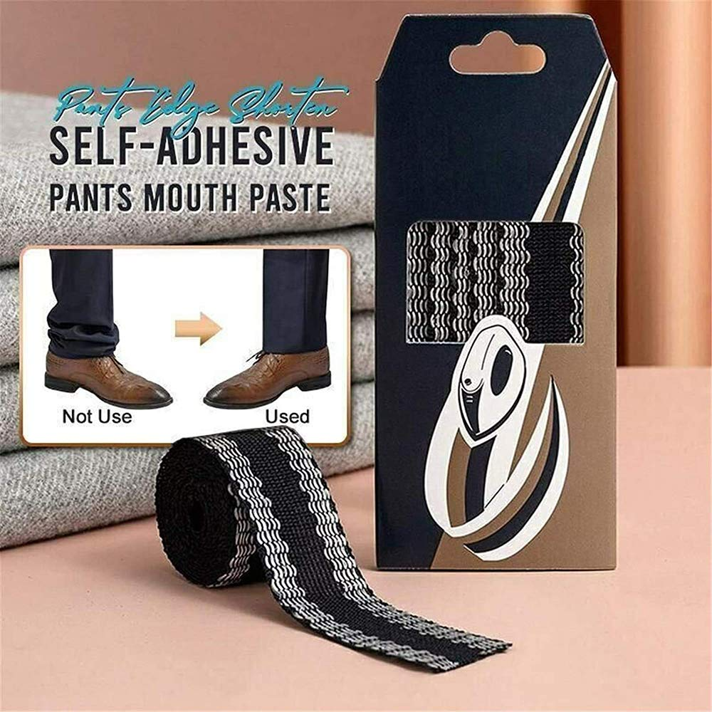 pantalones autoadhesivos pasta bucal cinta de dobladillo con plancha para recortar el dobladillo de pantalones y pantalones casuales acortamiento de bordes 1.2m 2 piezas de pantalones nuevos